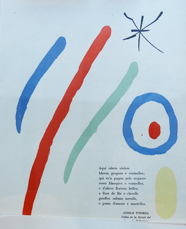 Los Poetas Mallorquines A Joan Miró Cartuja De Valldemossa