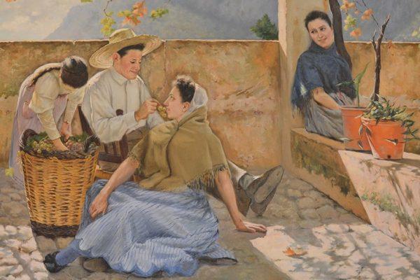 """""""Temps de verema"""" de Joan Fuster, oli sobre tela, 1899"""